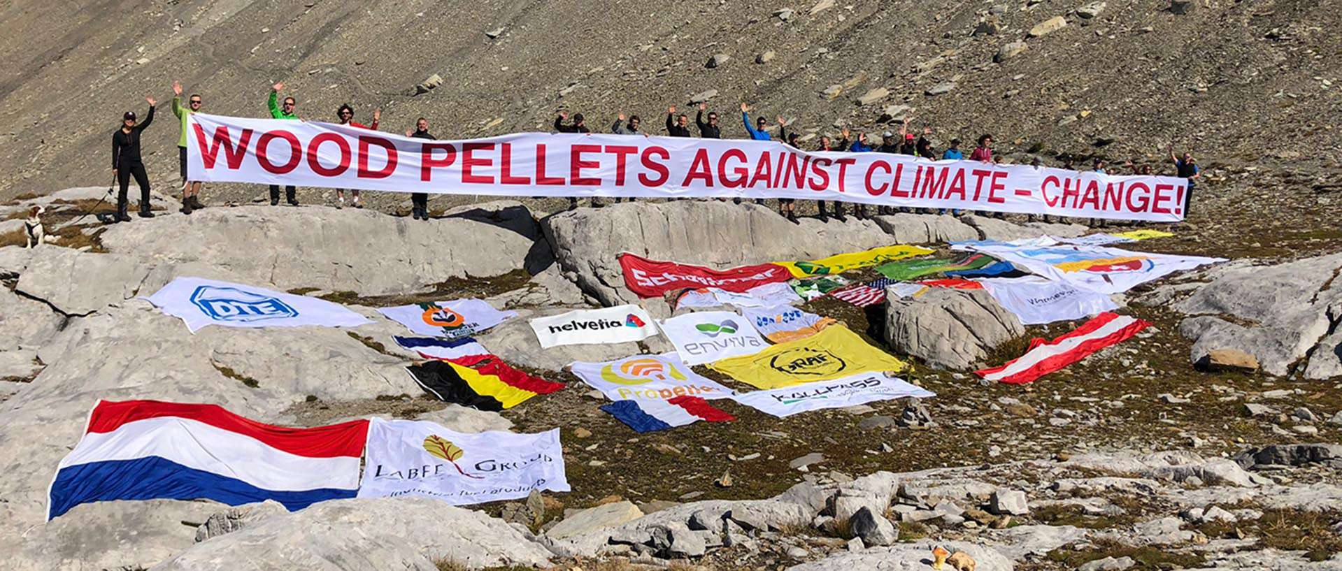 "Aktion ""Wood Pellets against climate change"""